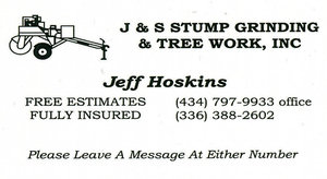 J & S Stump Grinding & Tree Work, Inc