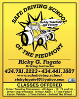 Safe Driving School of the Piedmont