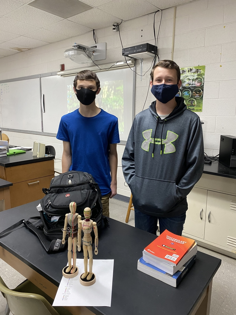 Students with their Anatomy projects