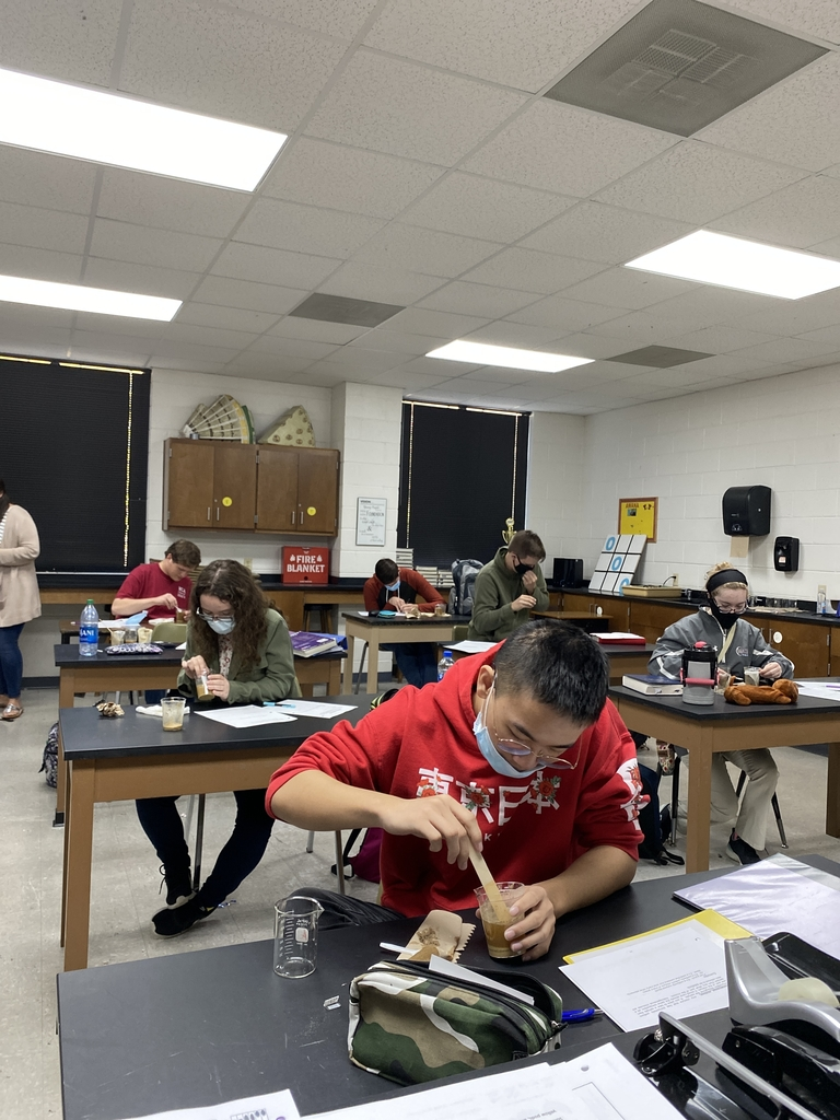 Chemistry students working on a lab