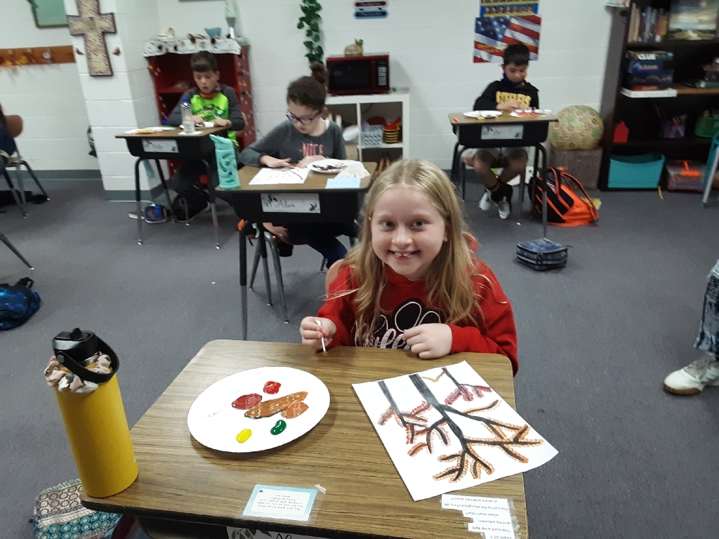 painting fall leaves