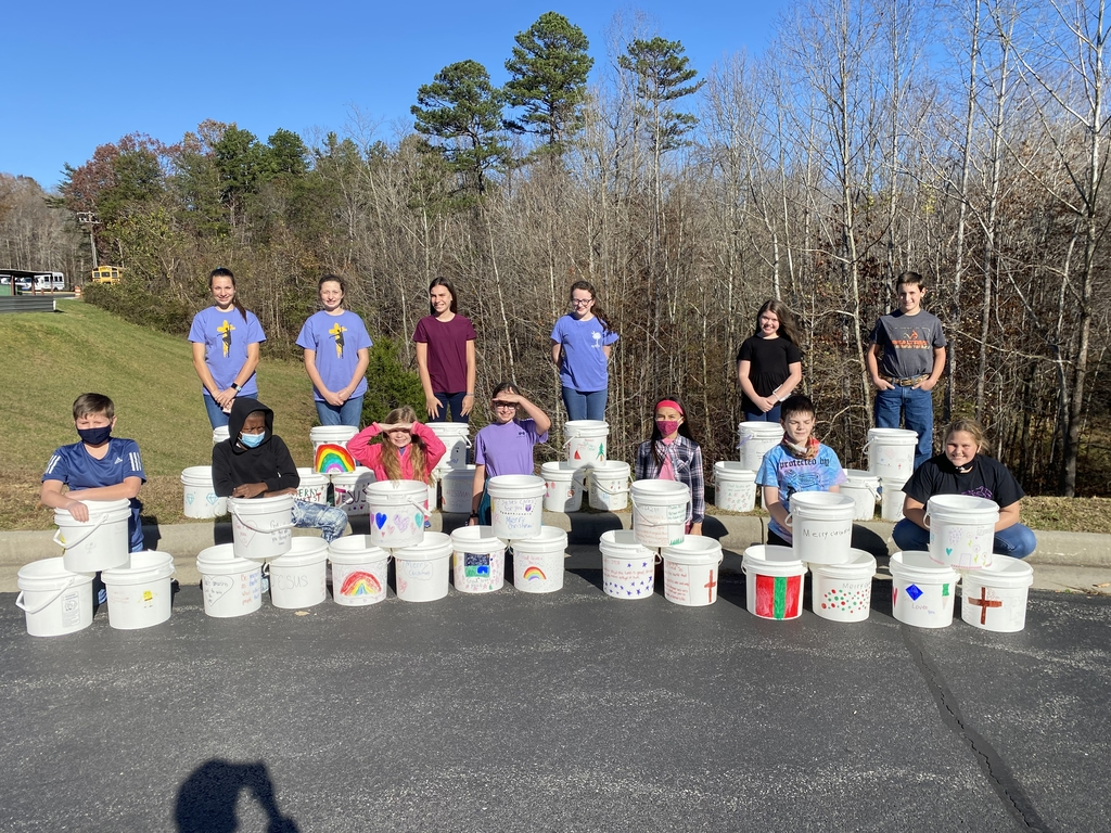 6B service project ! Blessing buckets for God's Pit Crew