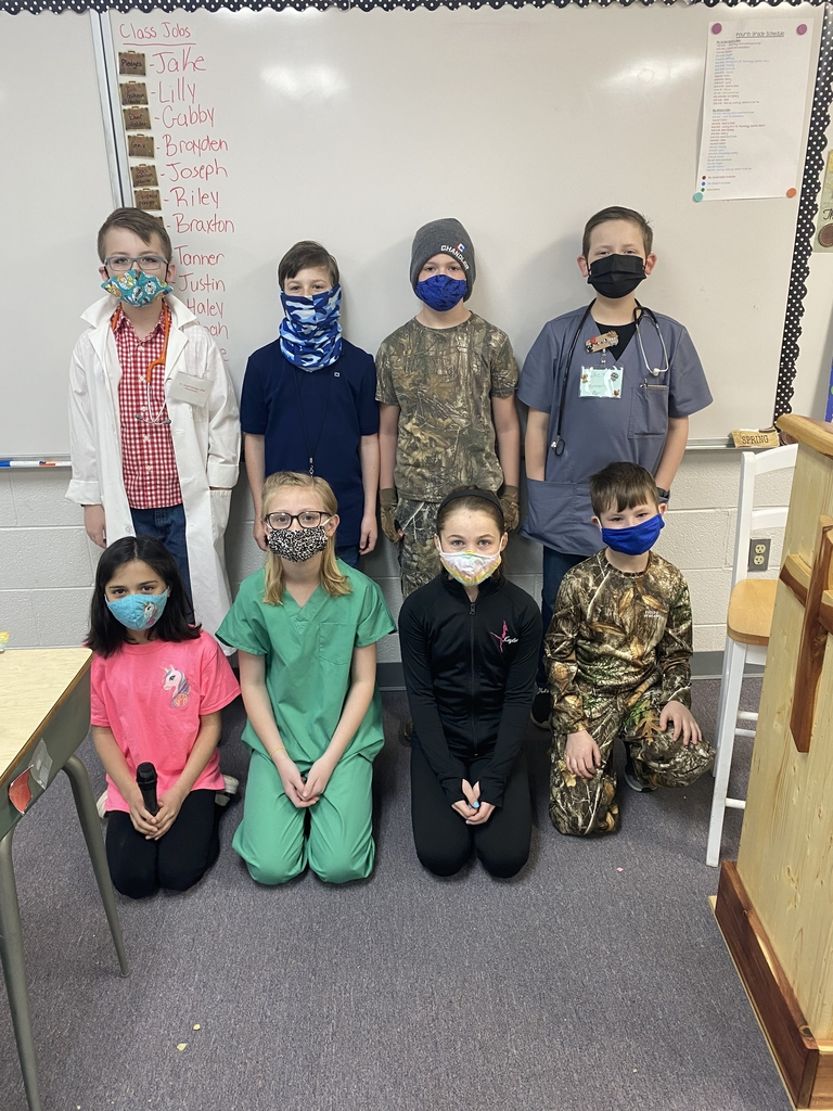 4th grade dressed as their future selves