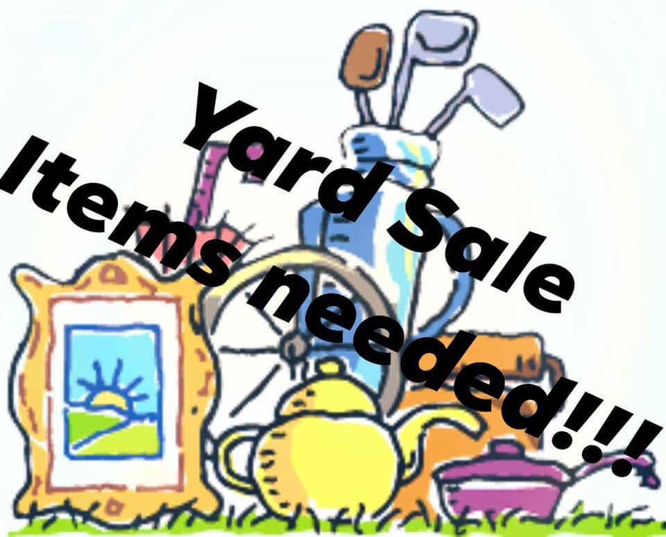 Yard sale items needed