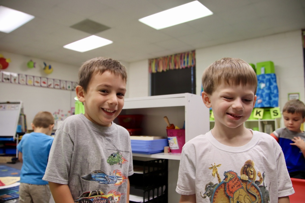 preschool boys smiling for the camera