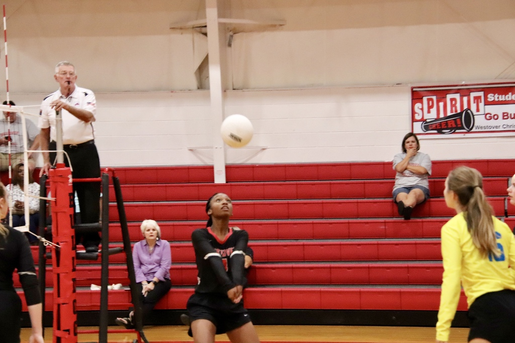 JV Girls Volleyball Girl bumping the ball