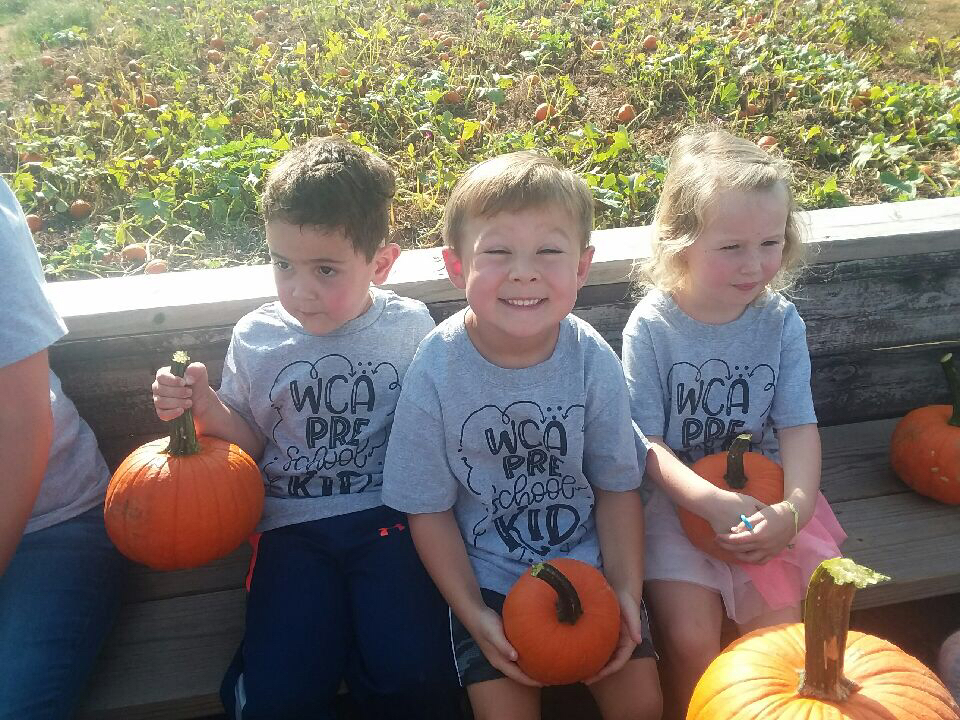 They visited the pumpkin patch!