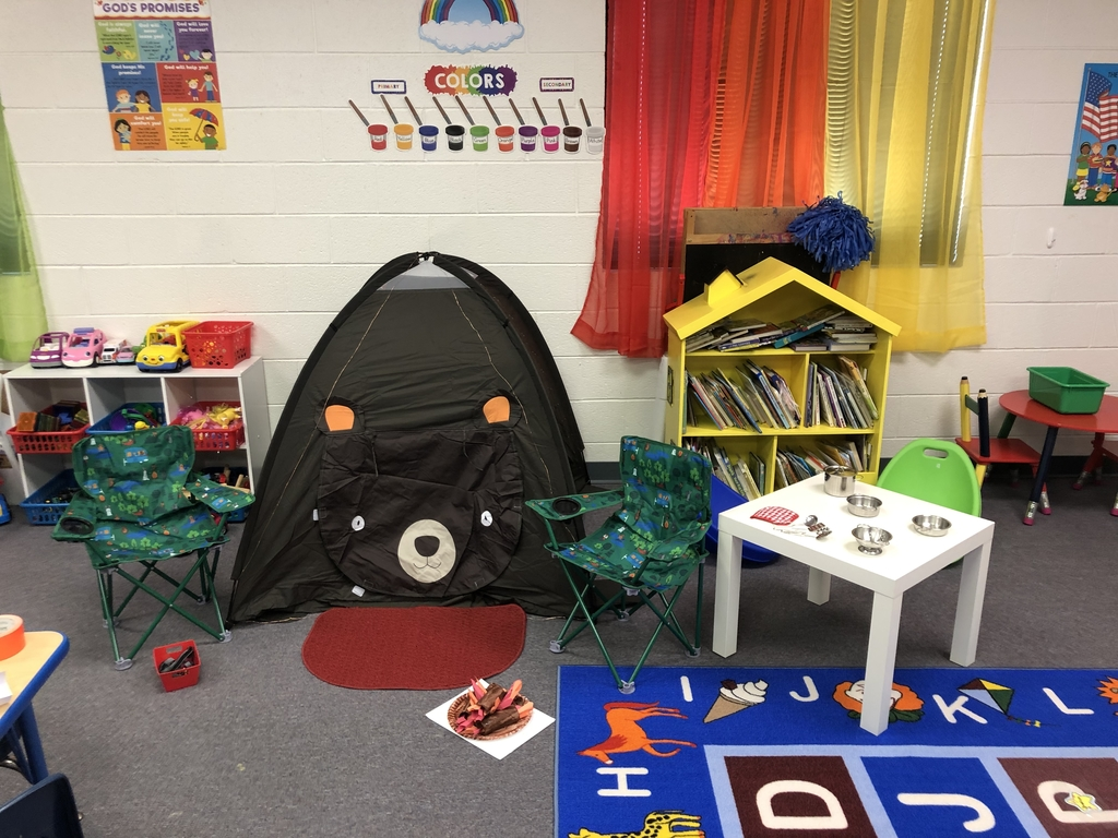 Mrs. Perez's K3 class had fun camping for the letter C.