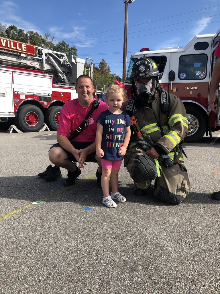 One of our very own K3 students' daddy was a firefighter!
