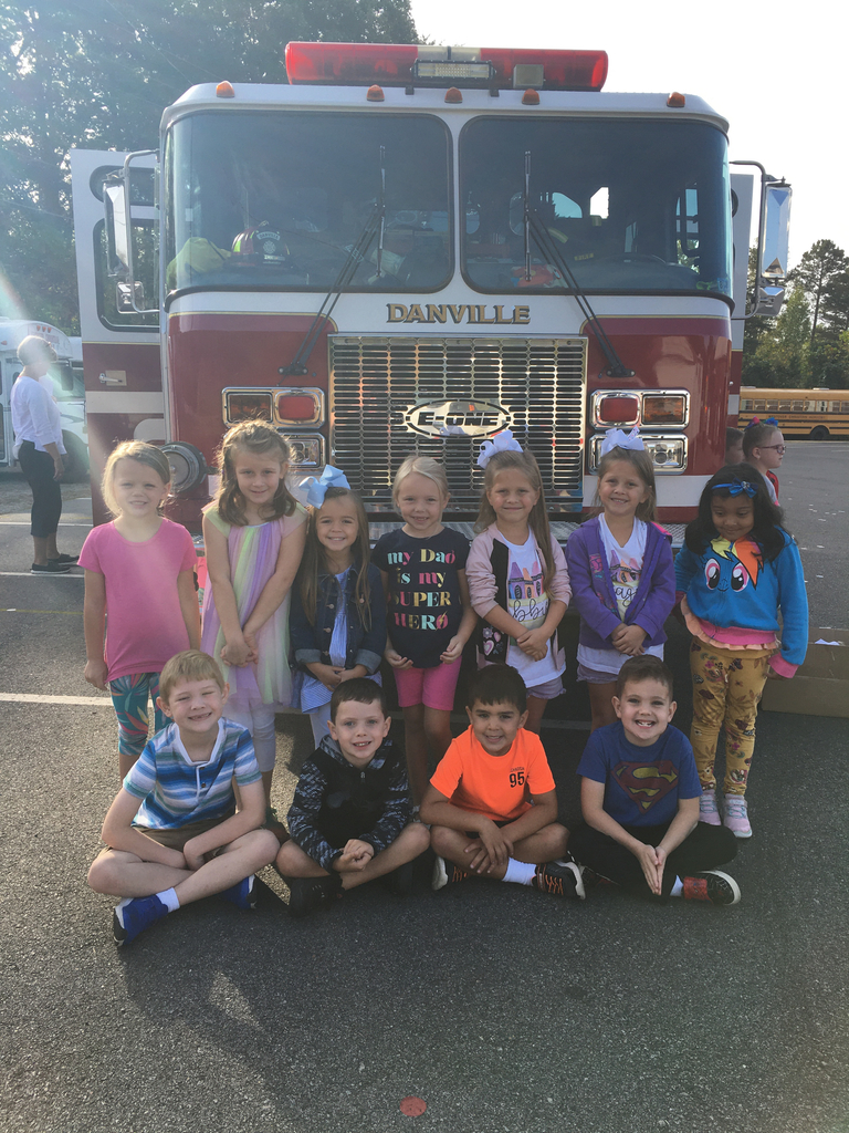 Kids and fire truck