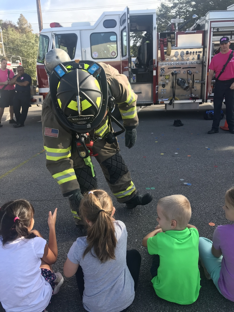 Firefighters are friendly, not scary!
