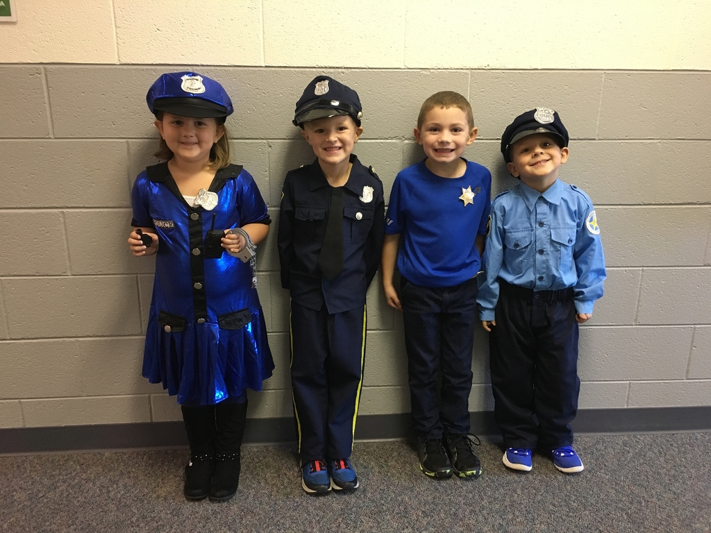 Proud police officers!
