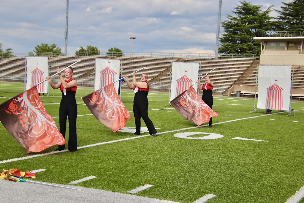 Color Guard at Band Field Show in Lynchburg