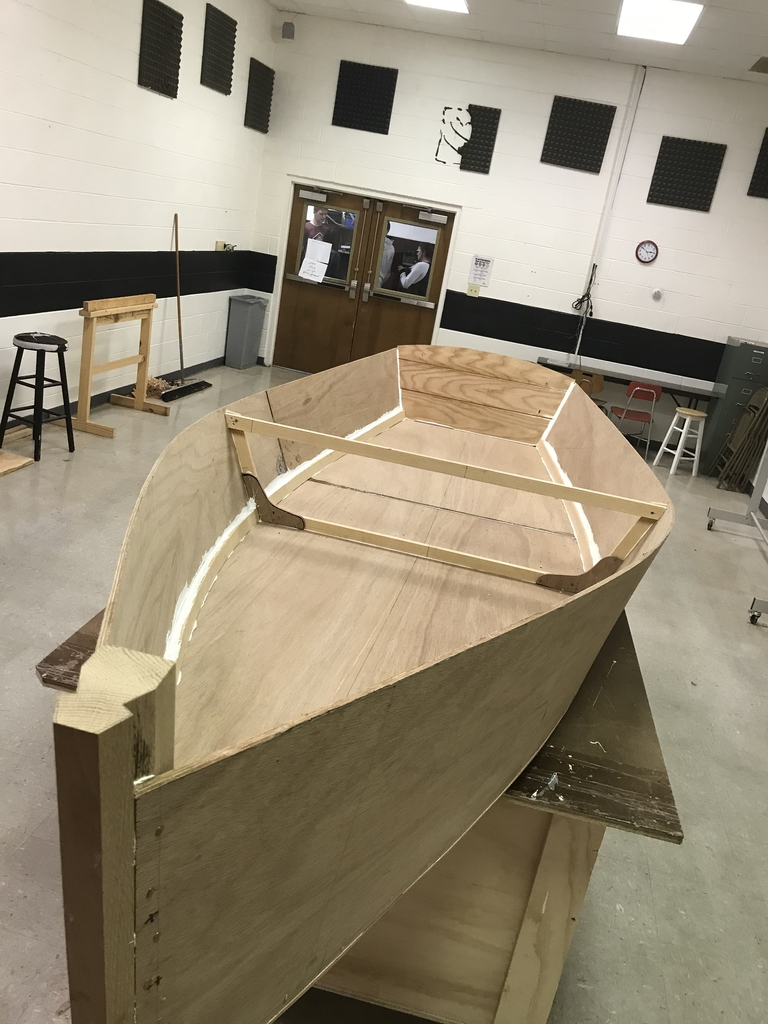 Bevin's Skiff goes right side up for the first time.