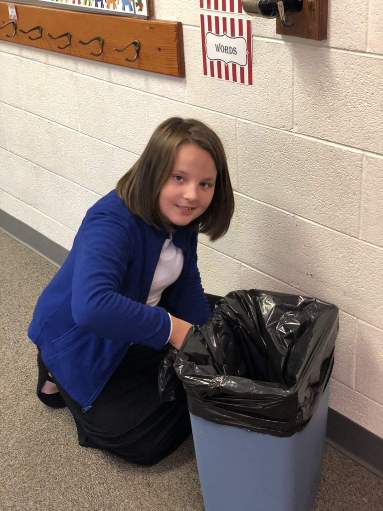 Alexis loves replacing our trash bags and tying them each day!  Thank you so much!  We appreciate you!!
