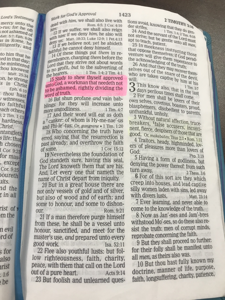 Highlighted verse in the Bible