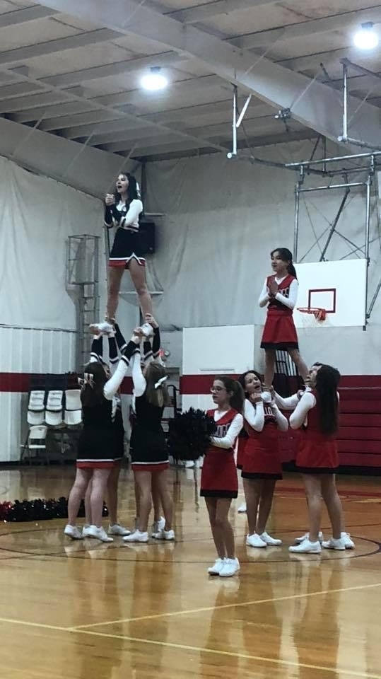 Great job cheerleaders!