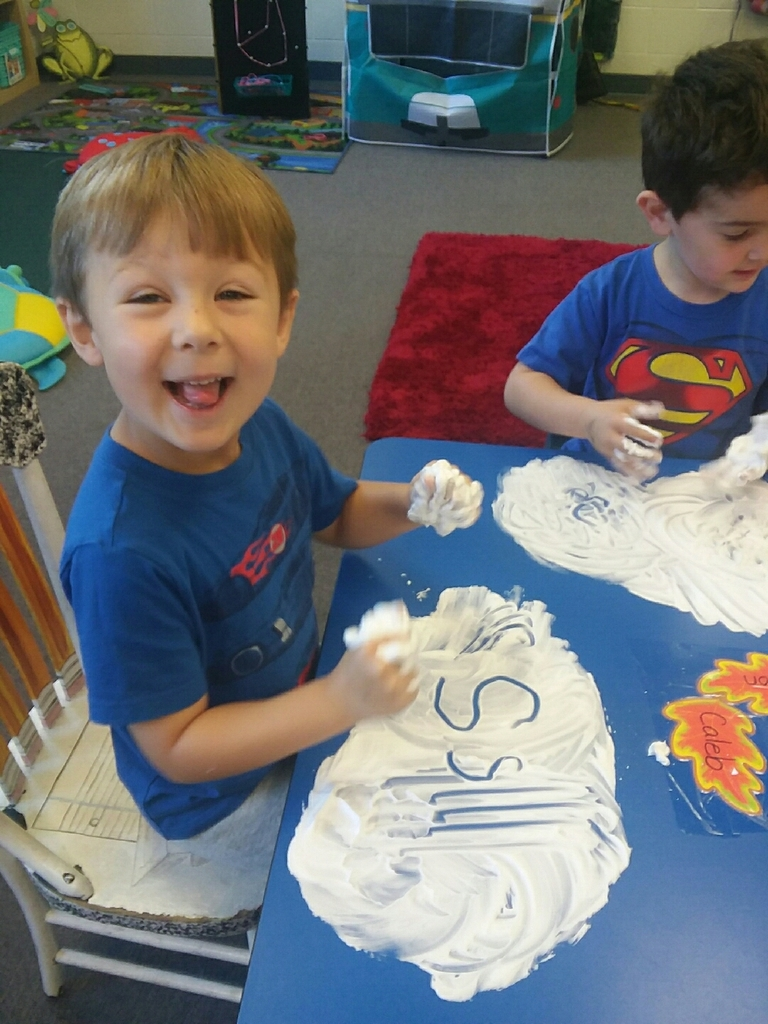 Making S's in shaving cream