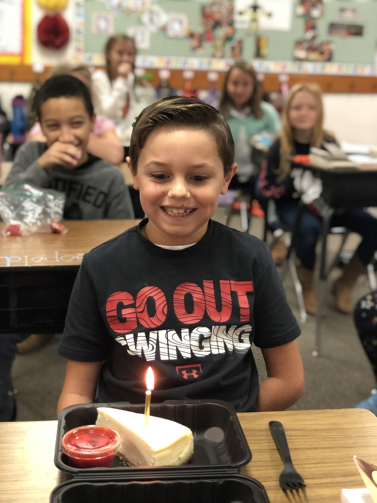 A fourth grade boy celebrating his birthday!