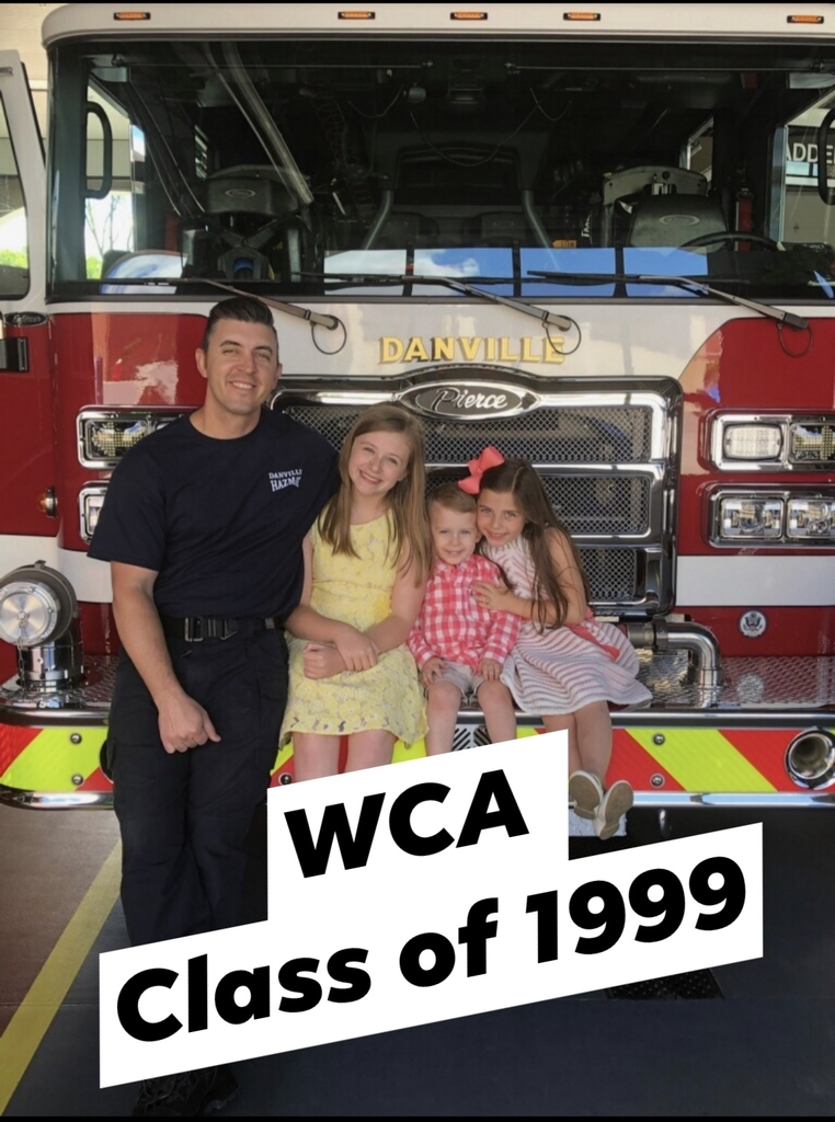 WCA Alumni Thomas Collins and his three children