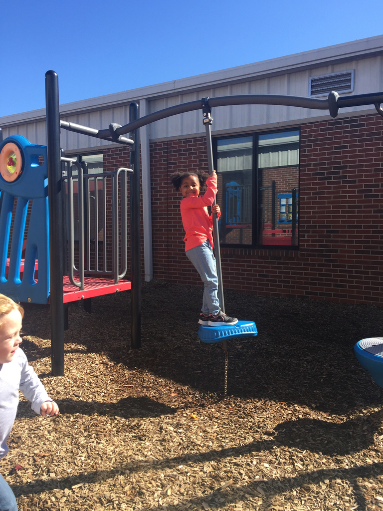 Alana enjoying recess time on her first day at WCA.