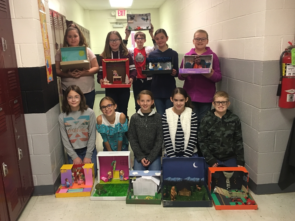 Sixth grade diorama projects.
