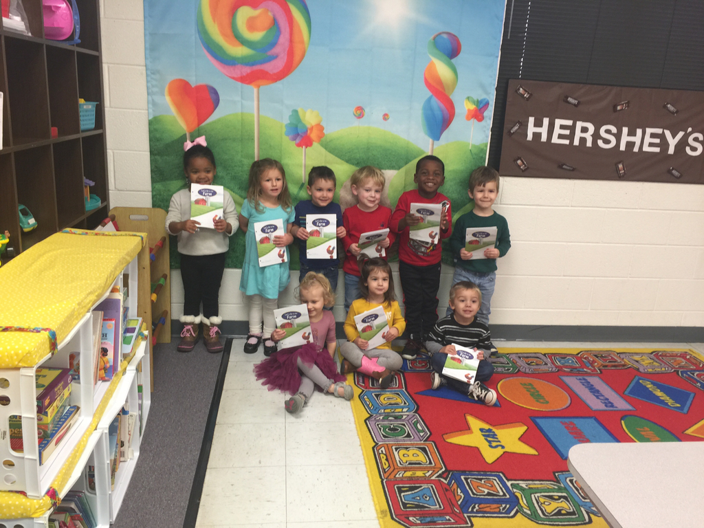 K-3 made books to show what letters we have learned at school.