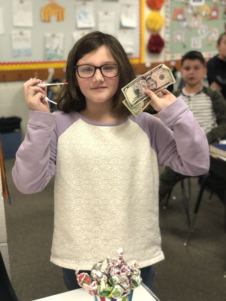 Girl with her winnings