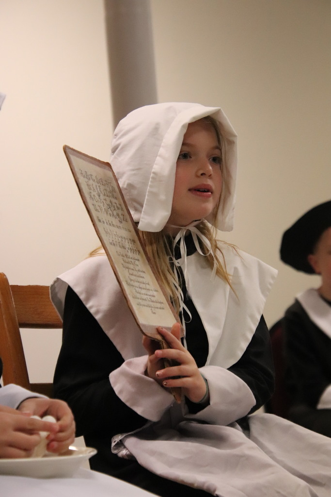 girl in pilgrim costume