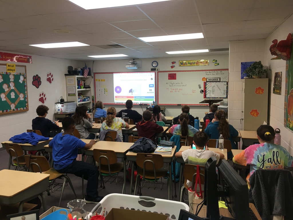 Fifth grade Kahoot game.